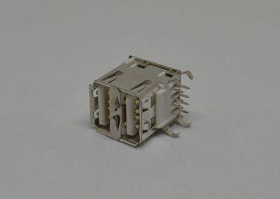 USB A F 双排插板式